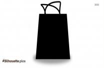 Shopping Bag Clip Art Vector Silhouette Image