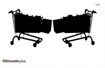 Shopping Basket Trolley Silhouette