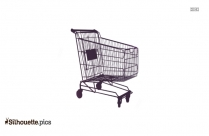 Shopping Trolley Silhouette Image