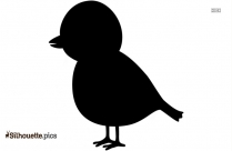 Cute Bird Silhouette Image