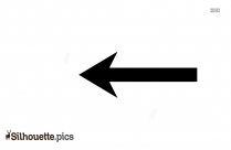 Short Left Arrow Silhouette