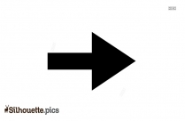 Short Right Arrow Mark Symbol Silhouette
