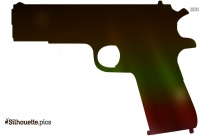 Cartoon Gun Silhouette Vector And Graphics