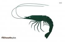 Angry Cartoon Shrimp Silhouette