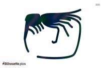 Cartoon Shrimp Silhouette
