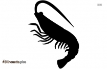 Shrimp Silhouette Clip Art