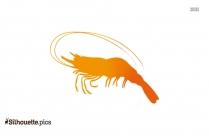 Shrimp Silhouette Free Vector Art, Cartoon Sea Animal Clipart