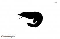 Shrimp Hook Silhouette Illustration