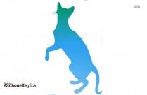 Cute Cartoon Cats Silhouette Free Vector Art