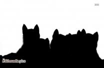 Alaskan Malamute Silhouette Art