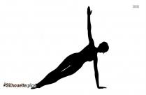 Plank Yoga Pose Silhouette Free Vector Art