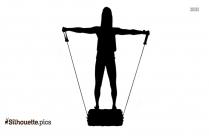 Side Raises Clipart || Lateral Shoulder Raise Machine Silhouette