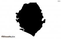 Seychelles Map Silhouette Vector