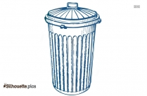 Silhouette Clip Art Of Trash Can