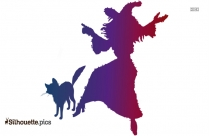 Silhouette Clipart Of Witch