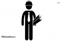 Silhouette Construction Man Clipart Image