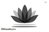 Colouring Lotus Silhouette