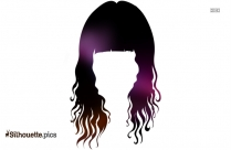 Curly Hair Silhouette Images