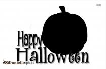 Halloween Pumpkin Cartoon Silhouette