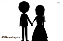 Silhouette Holding Hands