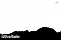 Mountain Lion Footprint Silhouette
