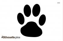 Paw Print Silhouette Dog