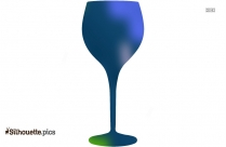 Silhouette Of Clear Wine Glasses