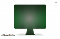 Silhouette Of Computer Icon