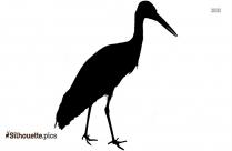 Japanese Crane Bird Silhouette