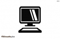 Silhouette Of Laptop Icon