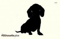 Bear Dog Silhouette Image