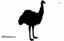 Emu Bird Clip Art Silhouette
