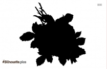 Girl With Flower Pot Silhouette