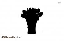 Flower Border Silhouette