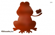 Silhouette Of Frog Eating A Fly