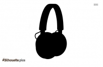 Girl Headphones Silhouette