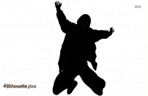 Silhouette Of Jumping For Joy