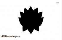 Silhouette Of Lotus Flower