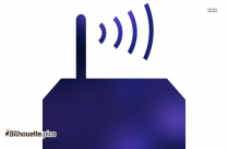 Silhouette Of Router
