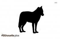 Running Wolf Silhouette