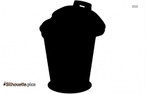 Silhouette Picture Of A Trash Can