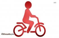 Silhouette Sportive Transport Bike