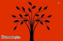 Hybrid Palm Tree Silhouette Image