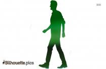 silhouette walking man