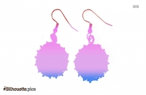 Free Hanging Earrings Silhouette