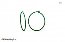 Free Hoop Earring Silhouette