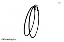 Oversized Hoop Earrings Silhouette Clip Art