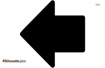 Arrow Going Left Silhouette Clipart