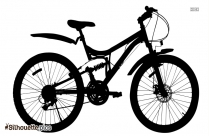 Bicycle Clipart Silhouette Illustration