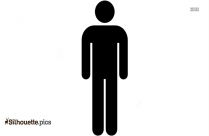 Simple Cartoon Male Clipart Silhouette Image